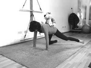 Schwangerschaft Pilates - Übung 'Vierfüßler' (mit Tiger)